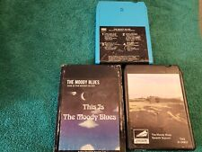 The Moody Blues- Lot Of three 8-Track Tapes - Tested, Works