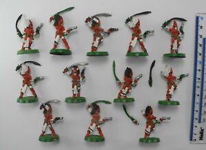 12 ELDAR HOWLING BANSHEES (2 damaged) Metal Aeldar Craftworlds Army 40K 1990 61