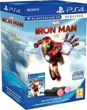 Playstation Move 2x Motion Controllers + Marvel`s Iron Man VR - New In Box