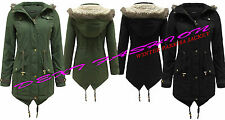 Brave Soul Patternless Full Length Coats & Jackets for Women