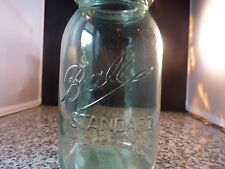 Blue Ball Standard Jar - Vintage with Multiple Large Air Bubbles