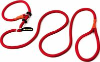 A Slip Lead 200 Cm (6.5 Ft) Red Moxon Retriever Leash Lead And Collar In One