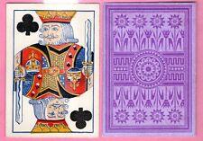 Single Swap Playing Card WIDE #D93 SQUARE CORNER PURPLE DESIGN ANTIQUE VINTAGE