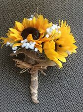 Wedding flowers bridal bouquet sunflowers decorations choose or add color