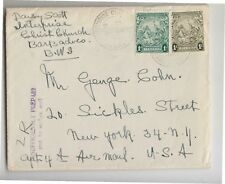 1929 BARBADOS Cover to U.S.A.+d.1+P.1+Cancel INSUFFICIENCY PREPAID-M641