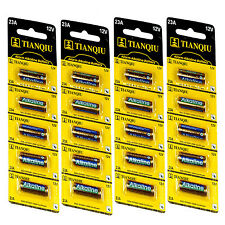 20Pcs 4 Sheets 23A A23 LR23A V23GA AG23 12V Alkaline Battery Single Use Battery