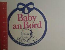Aufkleber/Sticker: Baby An Bord Fissan (22101677)