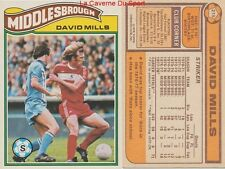 215 DAVID MILLS # ENGLAND MIDDLESBROUGH.FC CARD PREMIER LEAGUE TOPPS 1978