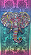 "Head of the Tribal Elephant Beach Bath Towel 30"" x 60"""