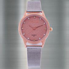 Luxury ultra-thin Rose Gold Dial Vintage Dress Reloj Lady Women Quartz Watches
