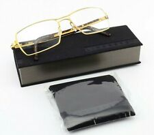 Lindberg Glasses 9529 T301 Strip Titanium 52-16 M Angled Metal Gold Tortoise Dk