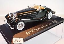 Ixo Altaya 1/43 Mercedes Benz 540K Special Roadster (1936) in Plexi-Box #197