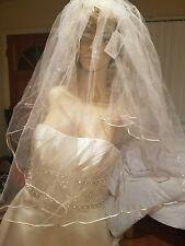 Swarovski fingertip veil pearl and chystal/cord edge ivory NWTs