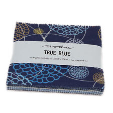"Moda FABRIC Charm Pack ~ TRUE BLUE ~ by Zen Chic 42 - 5"" squares"