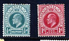 NATAL SOUTH AFRICA KE VII 1904 ½d. & 1d.  Wmk Mult Crown CA SG 146 & SG 147 MINT