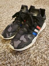 Adidas Men's EQT Support ADV 91-16 Running Shoes Black Camo Red White Blue 12 US