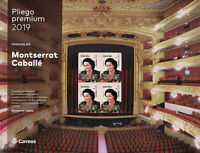 Spain 2019 MNH Montserrat Caballe Soprano Singer 10v S/A M/S Music People Stamps