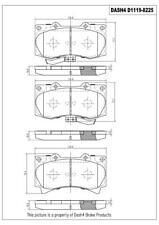 Disc Brake Pad Set-Ceramic Pads Front Pronto PCD1119