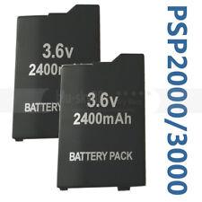 2PK 3.6V 2400mAh Rechargeable Battery Pack for Sony PSP Slim 2000 3000