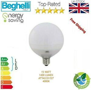 Beghelli Elplast 56812 Led Blub Globo 1400lm E27 4k Light Bulb 15W Cool White