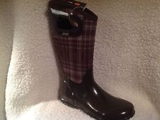 BOGS Waterproof Pull On Rain Boots - North Hampton Choco Multi 9 med