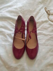M&S Patent Magenta Shoes 6