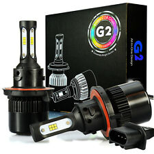 JDM ASTAR G2 8000LM 72W 9008/H13 LED Headlight Bulb High Low Dual Beam White DRL