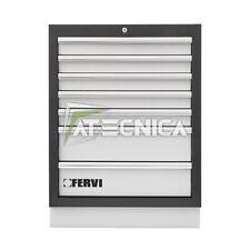 Cassettiera fissa 7 cassetti FERVI A007/17 per arredamento officina FERVI A007