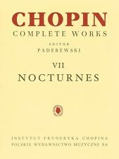 Nocturnes Sheet Music Chopin Complete Works Vol. VII PWM Book NEW 000132285