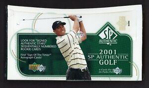 2001 SP Authentic Golf Sealed Unopened Hobby Box