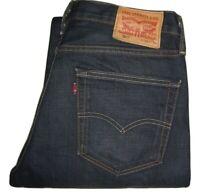Mens LEVI'S 508 Dark Blue (0003) Regular Tapered Denim Jeans W32 L34