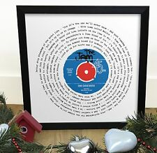 More details for the jam town called malice | vinyl single 12 inch lp size framed retro print