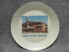 """The Pilot House Hotel 8"""" Souvenir Glass Tapestry Plate Vintage No Chips"""