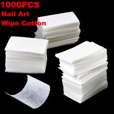 1000 Pcs Lint Free Nail Wipes Cotton Pads Acrylic Tips Nail Art Polish Remover
