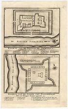 VOC Antique Print-MAP-SURABAYA-FORT-PAGAR-PASURUAN-INDONESIA-Valentijn-1726