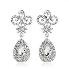 Elegant Clear Austrian Rhinestone Crystal Chandelier Dangle Earrings Prom E12