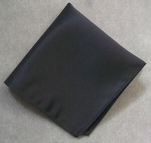 Handkerchief MENS Top Pocket Hankie CHARCOAL GREY 25cm X 25cm NEW