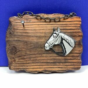 Horse key holder vintage W Germany west western cowboy nail wall hanging silver