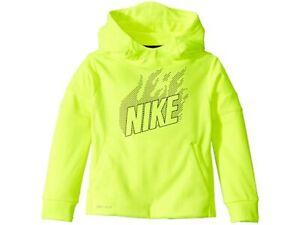 Nike Little Boy's Dri-Fit Therma Fleece Hoodie  NWT Volt Yellow  Size  6