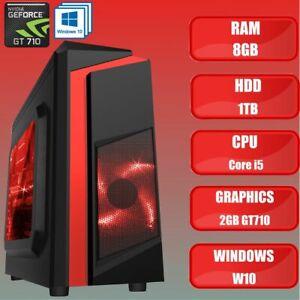 ULTRA FAST Intel Core i5 Gaming PC Tower WIFI 8GB 1TB HDD & Windows 10 2GB GT710