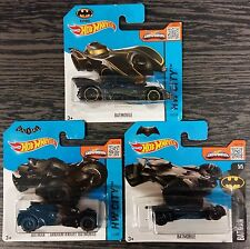 Lotto 5 pz.3 HOT WHEELS BATMOBILE BATMAN SCALA 1:64 DIE CAST MATTEL nuove