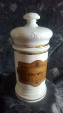 ALBARELO de FARMACIA Porcelana Botamen Tarro Siglos XlX Decoracion Coleccionismo