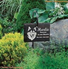Pet Memorial Laser Engraved Grave Marker Garden Sign Stand for your special pet.