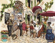 Cross Stitch Kit ~ Design Works Cafe Dance Vintage European Street Scene #DW2854