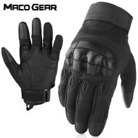 Men Touch Screen Black Tactical Military Full Finger Gloves Hunting Motorcycle