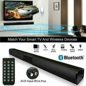 Bluetooth Sound Bar Speaker 3D Stereo System TV Home Theater For LG Samsung Sony