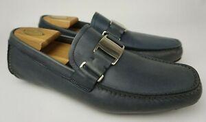 Salvatore Ferragamo Men's Sardegna Blue Driving Shoe Loafers Size 8.5 3E EEE
