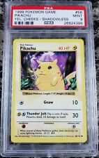 Pokemon PSA 9 Shadowless Yellow Cheeks Pikachu from Base Set 58/102 Mint WOTC