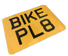 9 X 7 Text Motorcycle Plate Novelty Bike Plate Not Number Plate