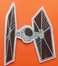 """Star Wars Tie Fighter Embroidered 3"""" Patch Iron On Shaped Stocking filler"""
